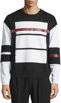 McQ by Alexander McQueen Colorblock Oversized Sweatshirt, Darkest Black
