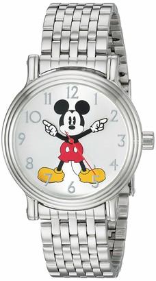 Disney Women's Mickey Analog-Quartz Watch with Stainless-Steel Strap