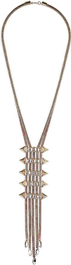Topshop Gem Lariat Necklace