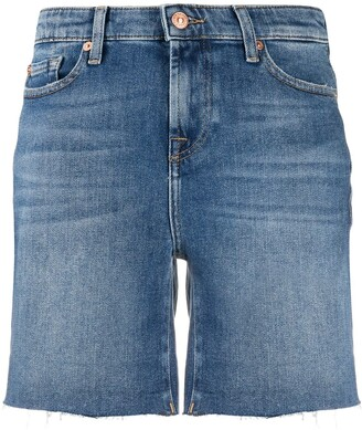 7 For All Mankind High Rise Denim Shorts