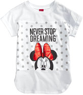 Disney Disney's Minnie Mouse Never Stop Dreaming Graphic-Print T-Shirt, Big Girls (7-16)