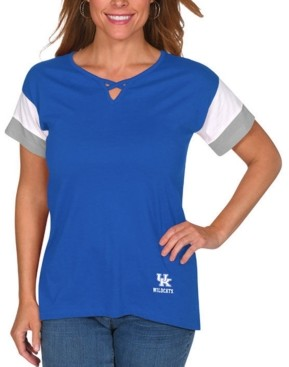 Lids Ug Apparel Women's Kentucky Wildcats Crisscross Colorblocked T-Shirt