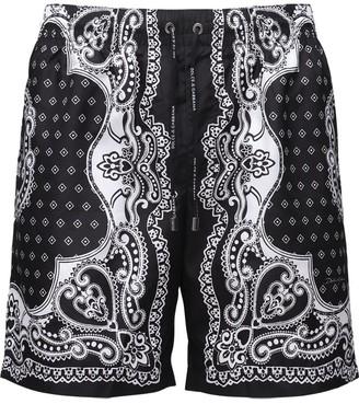 Dolce & Gabbana LOGO PRINT BANDANA SWIM SHORTS