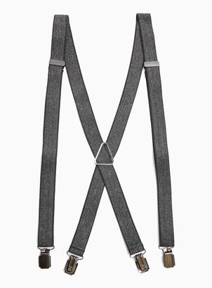 TopmanTopman HERITAGE Charcoal Grey Herringbone Skinny Braces