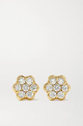 Bayco 18-karat Rose Gold Diamond Earrings