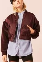 Forever 21 Faux Fur Sleeve Bomber Jacket