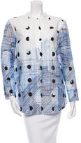 Piazza Sempione Printed Button-Up Top w/ Tags