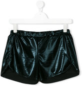 Andorine - glossy running shorts - kids - Polyester/Spandex/Elastane - 14 yrs