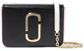 Marc Jacobs Hip Shot Convertible Color-block Textured-leather Belt Bag