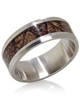 Camouflage Inlay Stainless Steel Band Ring