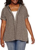 EMBOSSED Embossed Short-Sleeve Hooded Cozi - Juniors Plus