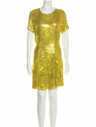 Galvan Silk Mini Dress Yellow