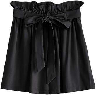 Goodnight Macaroon 'Maya' Waist Tie Paper Bag Shorts (3 Colors)