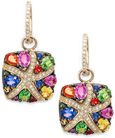 Effy Watercolors by Multicolor Sapphire (3-1/3 ct. t.w.) and Diamond (1/4 ct. t.w.) Starfish Earrings in 14k Gold