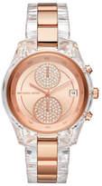 Michael Kors Chronograph Jet Set Briar Lucite Bracelet Watch