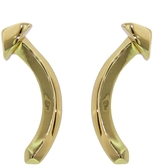 Jennifer Fisher Unique Curved Nail Studs- Yellow Gold