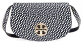 Tory Burch Jamie Convertible Leather Clutch - Blue
