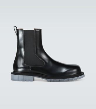 Bottega Veneta Leather boots with platform soles