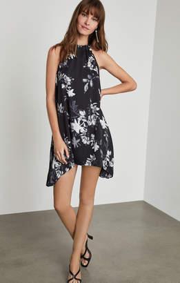 BCBGMAXAZRIA Floral Halter Dress