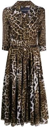 Samantha Sung Aster leopard print dress