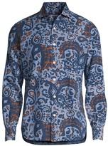 INC International Concepts Mens Light Blue Paisley Button Down Shirt