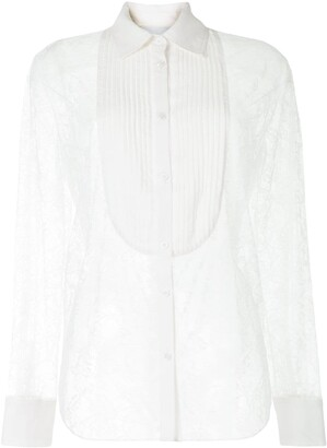 Fleur Du Mal Tuxedo Bib Shirt