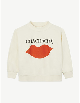 Bobo Choses Chachacha print cotton sweatshirt 4-11 years