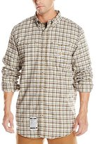Carhartt Men's Big & Tall Flame Resistant Classic Plaid Long Sleeve Woven Shirt
