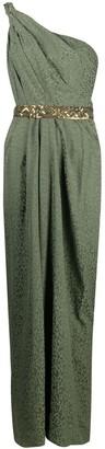 Johanna Ortiz Leopard-Print One-Shoulder Maxi Dress