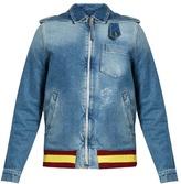 J.W.Anderson Detachable-hood distressed denim jacket