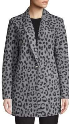 MICHAEL Michael Kors Textured Cheetah-Print Coat