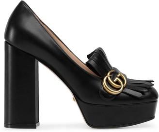Gucci platform fringe loafers