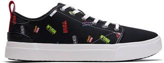 Toms Black Marvel Logos Printed Men's TRVL LITE Sneakers