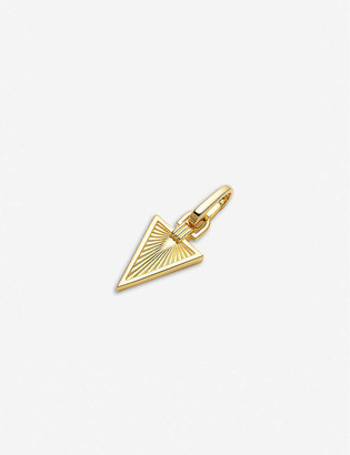 Missoma Ridged Triangle 18ct yellow gold-vermeil clip-on pendant