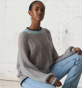 Becksöndergaard Solid Grace Sweater - S/UK10 | light gray - Violet