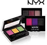 NYX (3 PACK Love in Rio Eye Shadow Palette 0.105oz Set 5