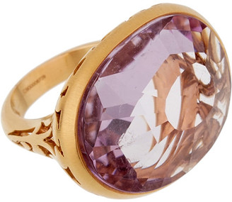 Pomellato 18K 15.1018 Grams Rose Gold 10.16 Ct. Tw. Amethyst Cocktail Ring