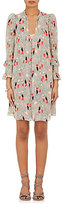 Derek Lam 10 Crosby Women's Scribble-Floral Silk Tieneck Dress