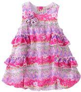 Little Lass floral bubble dress creeper - baby