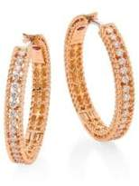 Roberto Coin Symphony Diamond & 18K Rose Gold Hoop Earrings/0.75""