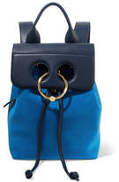 J.W.Anderson Pierce Mini Suede And Textured-leather Backpack