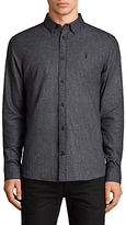 Allsaints Allsaints Ralston Check Long Sleeve Shirt, Black