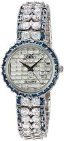 Adee Kaye Women's Quartz Brass Dress Watch, Color:Silver-Toned (Model: AK9701-LBU)