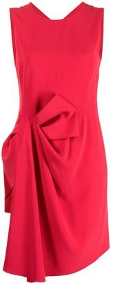 Emporio Armani Drape-Detail Sleeveless Dress