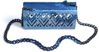 Vitro Atelier Asra Clutch In Blue Marble