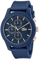 Lacoste Men's 2010827 12.12 Analog Display Chronograph Quartz Blue Watch