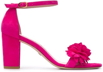 Stuart Weitzman Floral Open-Toe Sandals
