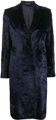 Tagliatore Velvet Double-Breasted Coat