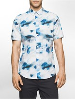 Calvin Klein Classic Fit Abstract Cloud Short Sleeve Shirt