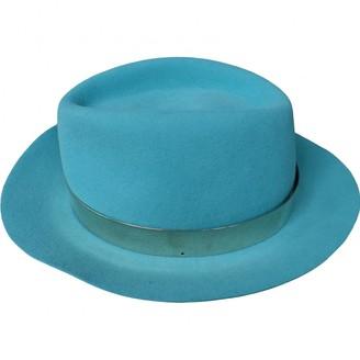 Maison Michel Turquoise Wool Hats